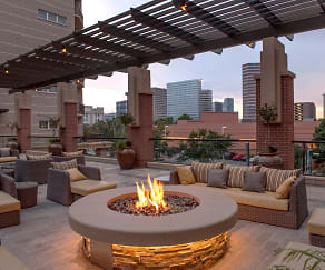 Rooftop Fireplace, Gables Post Oak