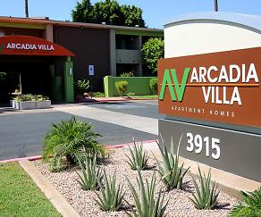 Community Signage, Arcadia Villa Apartments