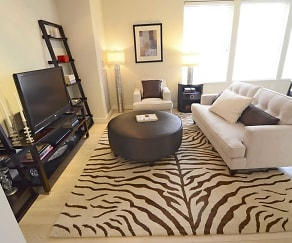 Living Room, The Woodward Building Apartments