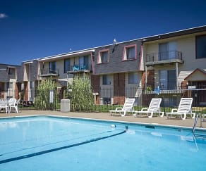 Pool, Rosewood Village Apartments