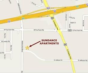 Map, Sundance Apartments