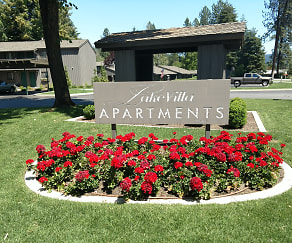 Community Signage, Lake Villa Apartments