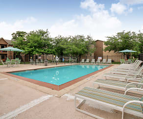 Pool, The Brazos Apartments