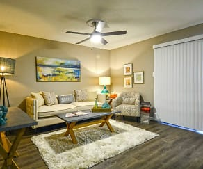 Living Room, Hillside Villas