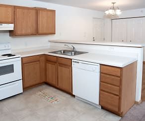 Kitchen, Rum River Apartments