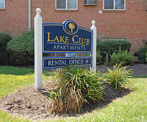 Community Signage, Lake Club