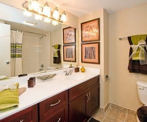 Bathroom, Twin Lake Towers Apartments