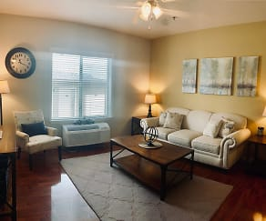Model 2 BR Living Room, Prairie Vista Apartments