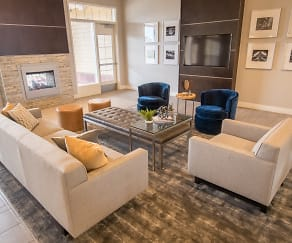 Living Room, Skye at Arbor Lakes Apartments