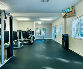 Fitness Weight Room, Twin Palms Apartments