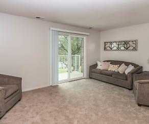 Living Room, Indian Hills Apartments