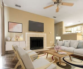 Living Room, Fieldcrest Apartments