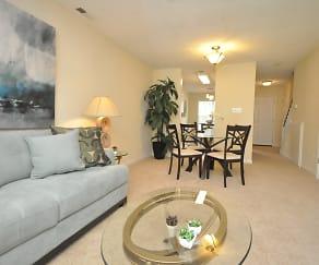 Living Room, Pine Ridge Apartments