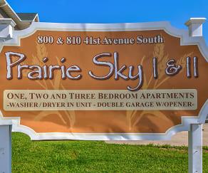 Community Signage, Prairie Sky Apartments