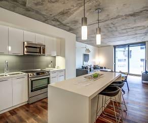 Kitchen, The Apartment Residences at AKA