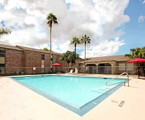 Pool, Carriage Park Apartments
