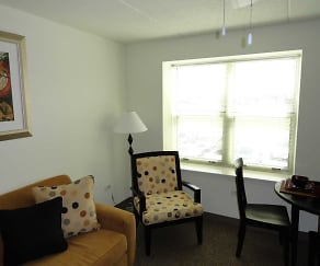 Living Room, Fountain Square Senior Apartments