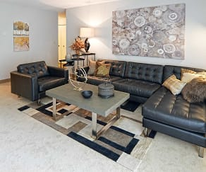 Living Room, Pointe at Cedar Grove