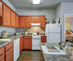Kitchen, Bosque Crossing Apartments
