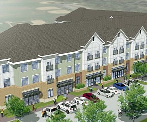 Rock Spring Station Apartments and Shoppes Rendering, Rock Spring Station