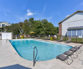 Pool, Eagles Crest at Durrett Apartments