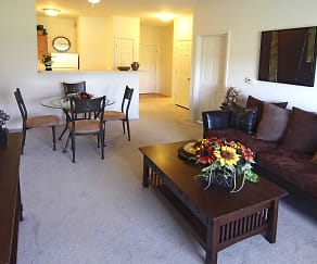 Living Room, Residences at Merrillville Lakes