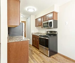 Kitchen, Lakeview Apartments