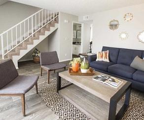 Living Room, Villa Grande Townhome Apartments