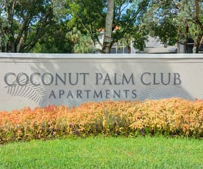 Community Signage, Coconut Palm Club Apartments