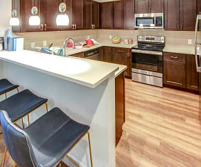 Kitchen, The Apex at 290 Apartments