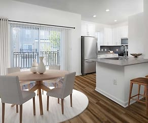 Newly renovated kitchen and dining area (in select homes), Avalon at Lexington Hills