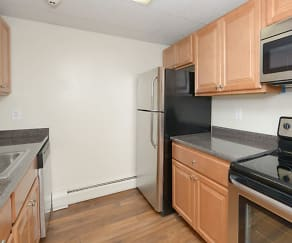 Kitchen, Shorewood Apartments