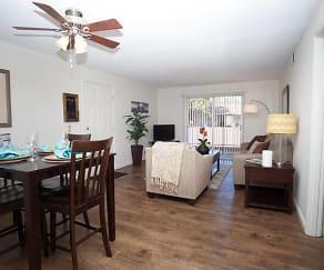 Living Room, Abbott Acres Apartments
