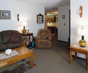 Living Room, Julia Manor Apartments