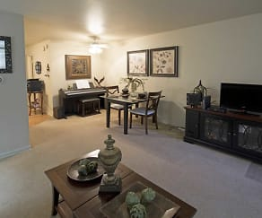Living Room, Brook Forest Apartments