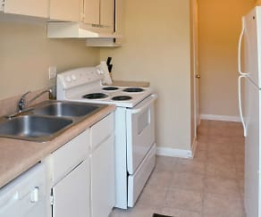 Kitchen, Foxwood Apartment Townhomes