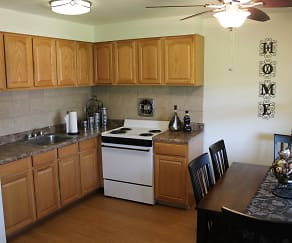 Kitchen, Woodland Springs Apartments