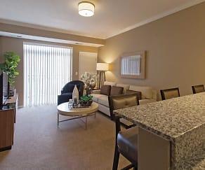 Living Room, The Flats at Cedar Grove Apartments