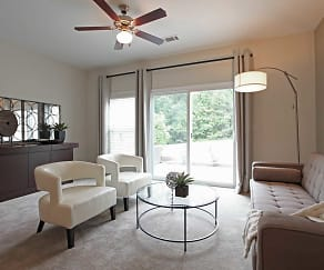 Living Room, Loch Raven Pointe Apartments and Townhomes