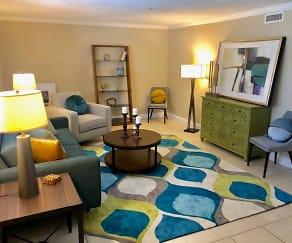 Living Room, Riverwalk Apartments