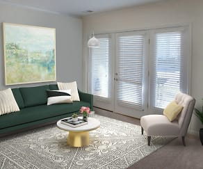 Living Room, Cottage Trails at Culpepper Landing