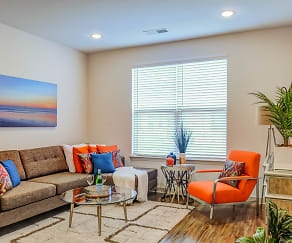 Living Room, Riverside Flats at Aberfoyle