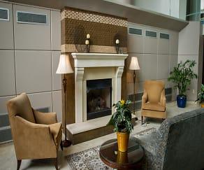 Living Room, Atrium Apartments