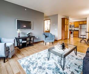 Living Room, Northbrook Apartments