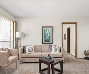 Spacious Living Room with Large Windows - Heritage Park Apartments, Heritage Park At Pennsylvania