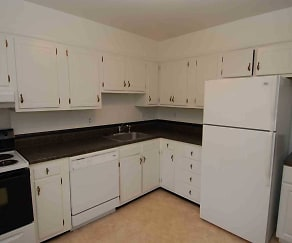 Kitchen, Woodland Apartments