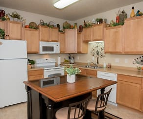 Kitchen, Crossing at Waters Edge 55+ Independent Living Community