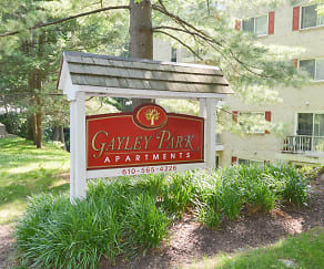 Community Signage, Gayley Park Apartments