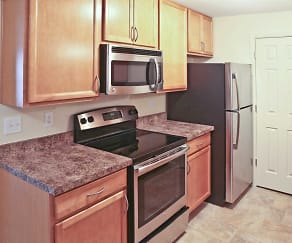 Kitchen, Markwell Village Apartments