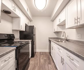 Kitchen, Park Village Apartments